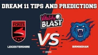 Dream11 Team Leicestershire vs Warwickshire North Group VITALITY T20 BLAST – Cricket Prediction Tips For Today's T20 Match LEI vs WAS at Edgbaston
